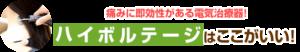 横須賀市北久里浜の鍼灸整骨院ひまわり ハイボルテージ画像